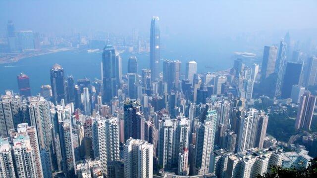 HK skyline from The Peak