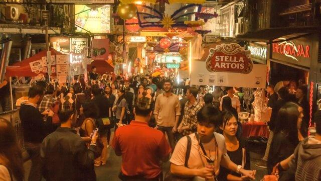 Lan Kwai Fong Street in Hong Kong