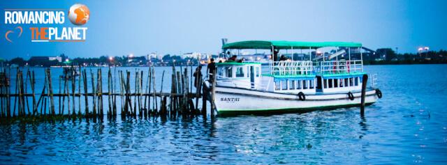 Ferry in Arabian waters at Kochi, kerala