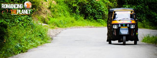 Tuk tuk on the roads of Thekkady, Kerala