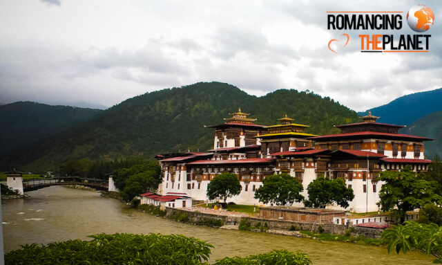 Punakha Dzong located in the Punakha Dzongkhag of Bhutan
