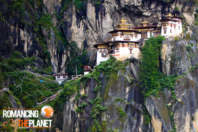 Taktshang Goemba located on the edge of the cliff