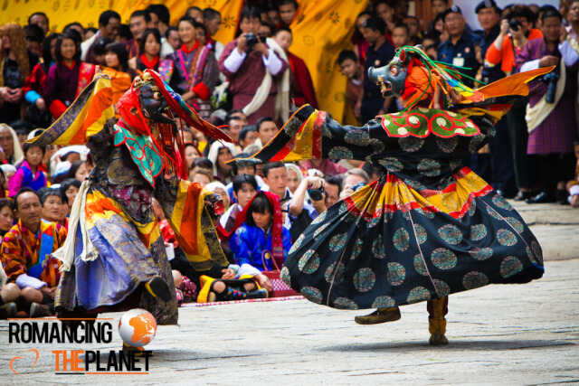 Masked dance performances by the monks