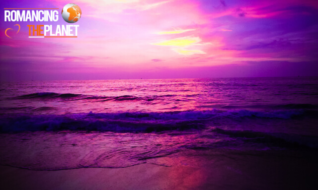 Beautiful evening sunset at the Negombo Beach