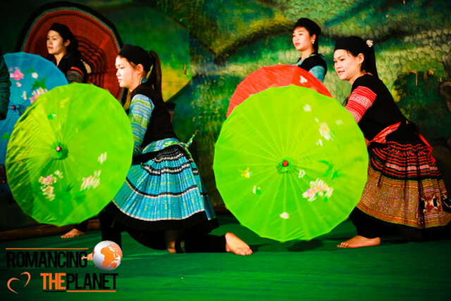 Traditional dance by the H'mong minority