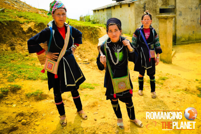 Black H'mong minority people in Lao Chai