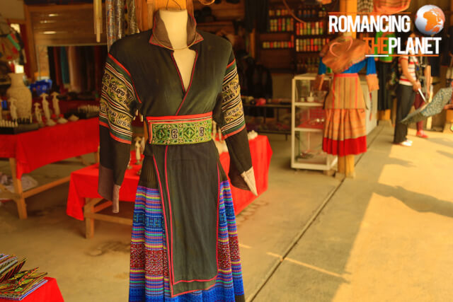 The traditional clothing of the women of villages in Sa Pa
