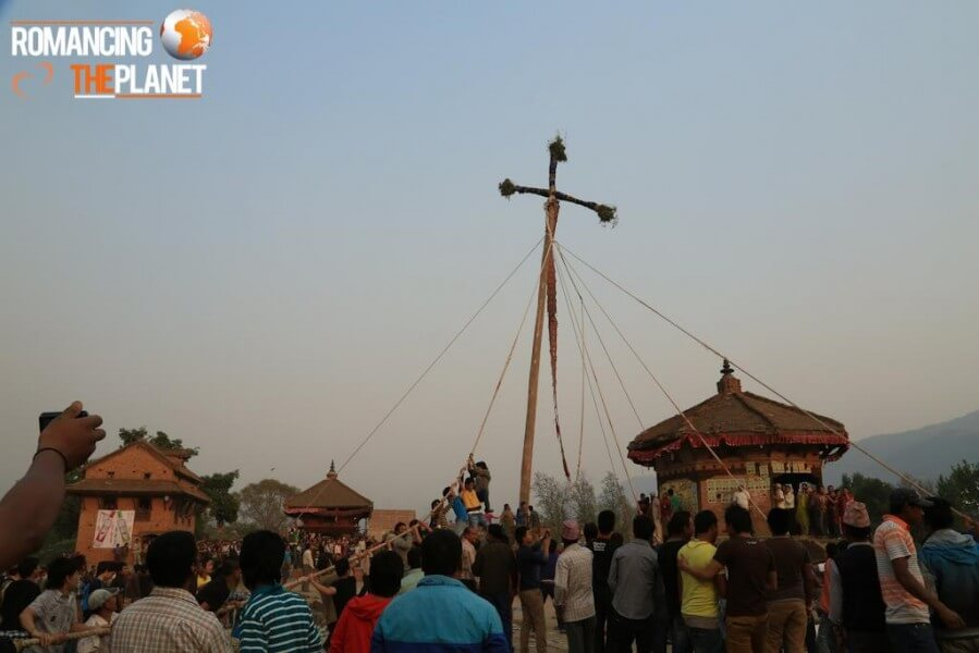 The large wooden pole at the Yoshin Khel