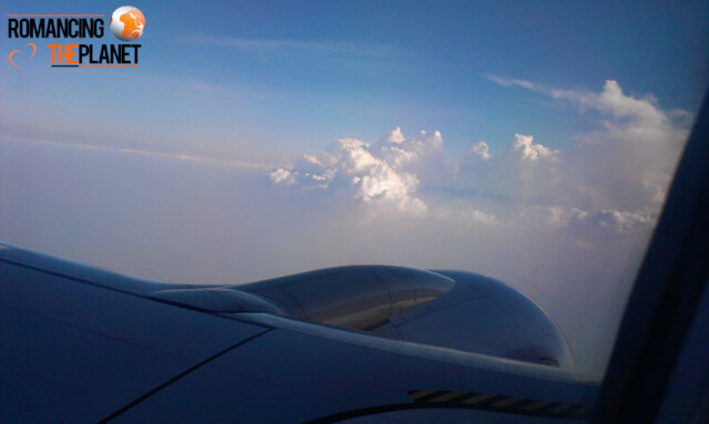 Passenger view from an airplane