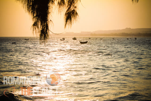 Amazing sunset in Mui Ne