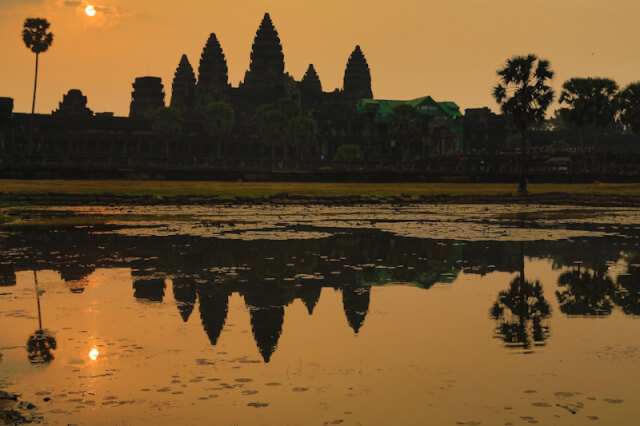Sunrise view of Angkor Wat temple
