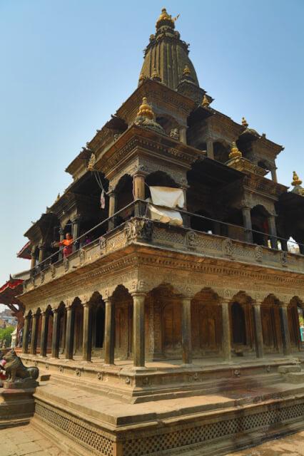 Krishna Mandir from the 17th century at Patan Durbar Square