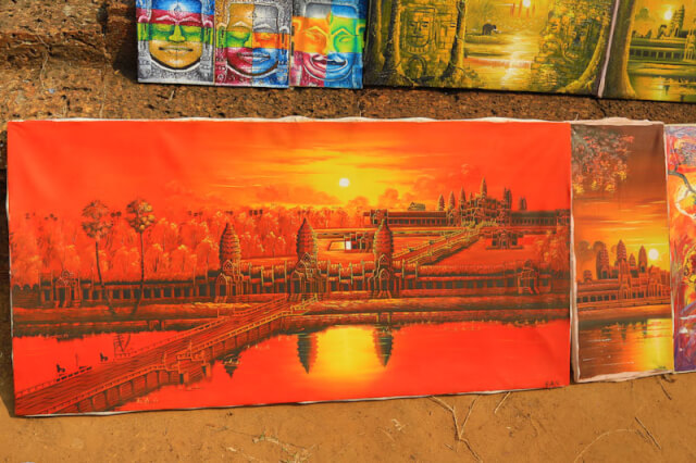 A painting of Angkor Wat that was put for sale