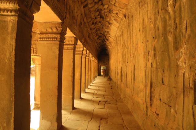 Corridors of Ta Prohm temple
