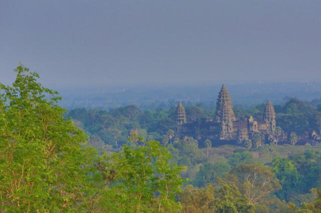 View of Angkot Wat temple from Phnom Bakheng