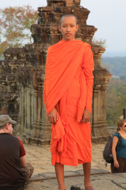 A monk whom came to visit the temples of Angkor