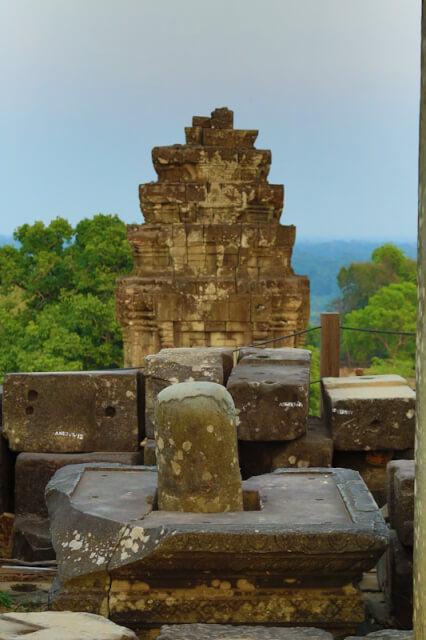 Shiva Linga in one of the temple on Bakheng mountain