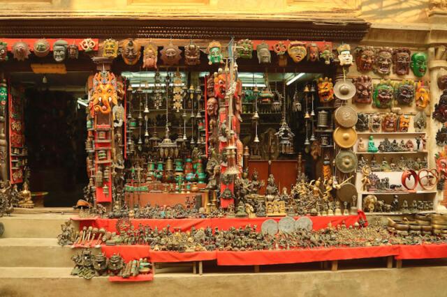 Shop selling artifacts near Patan Durbar Square