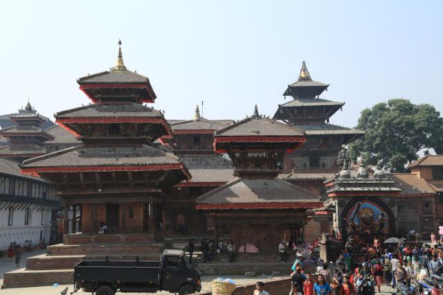 View of Kathmandu Durbar Square from Kotilingeshwar Mahadev Temple