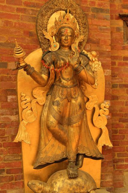 A statue in Mul Chowk, Patan Durbar Square