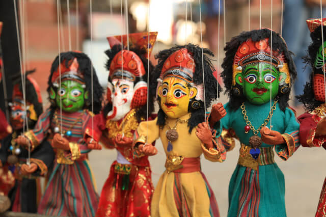 Puppets for sale, Kathmandu Durbar Square
