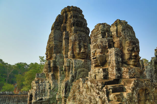 Towers at Bayon Temple in Angkor Thom