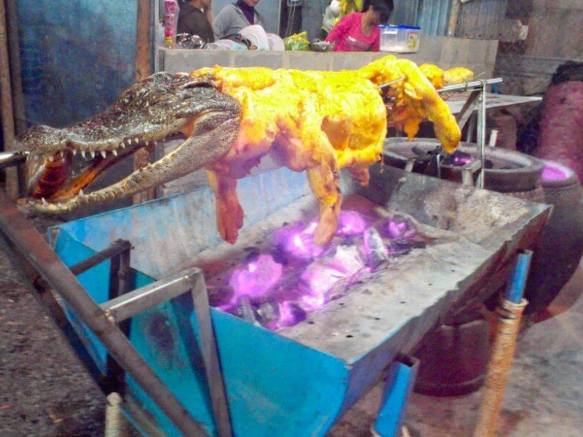Barbecue Crocodile in Mui Ne