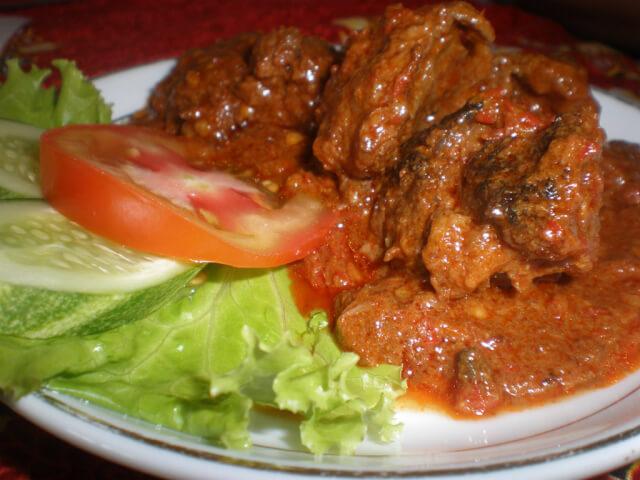 Beef Rendang at Sumatra Restaurant, Phnom Penh