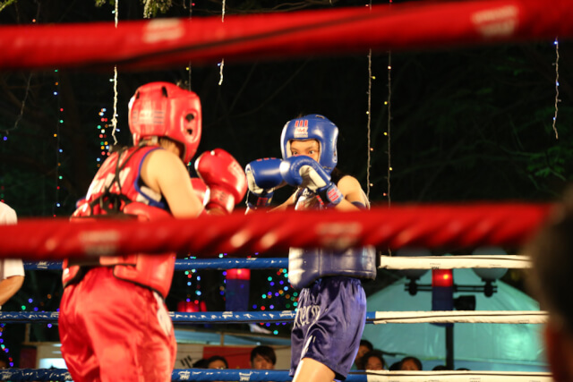 Boxing competition in 29-4 park, HCMC