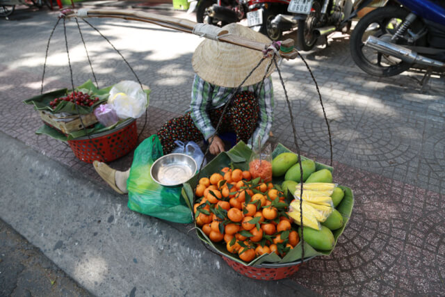 Fruits are available everywhere in Ho CHi Minh City