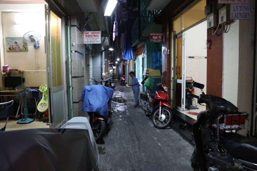 Alley near Bui Vien street, Ho Chi Minh City