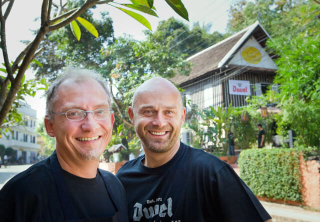 Founders of The House restaurant in Luang Prabang