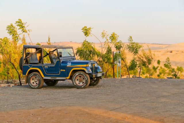 Jeep that took me to white sand dunes Mui Ne