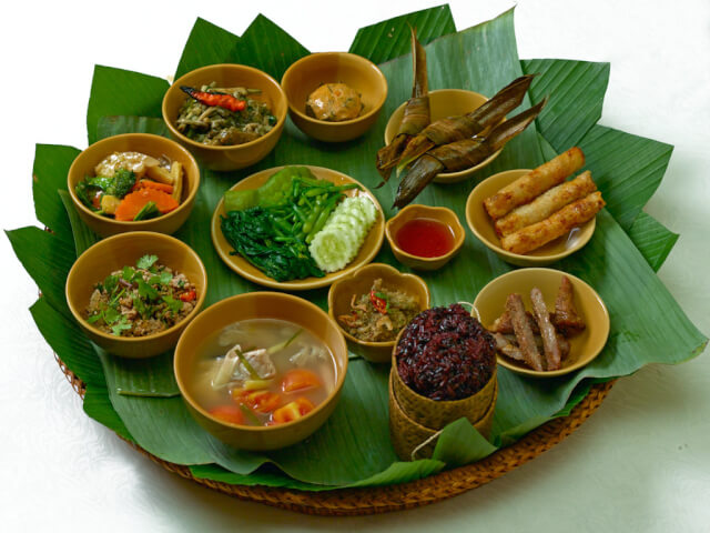 Set menu at Kualao restaurant in Vientiane