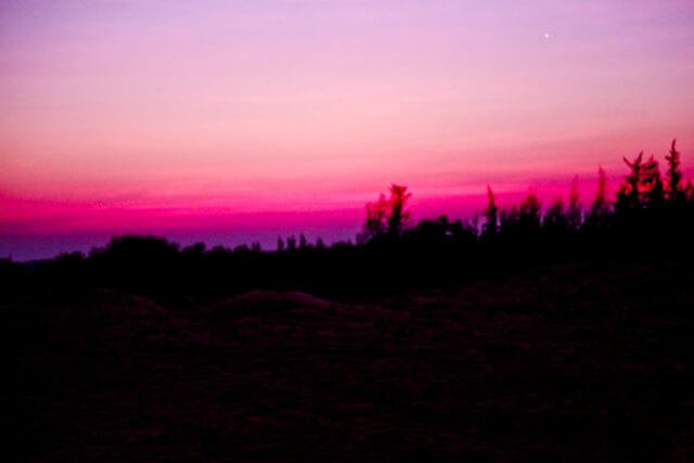Sunrise over the sanddunes in Mui Ne