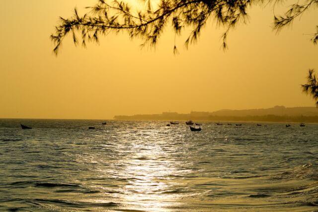 Sunset view from Bien Dua Resort in Mui Ne