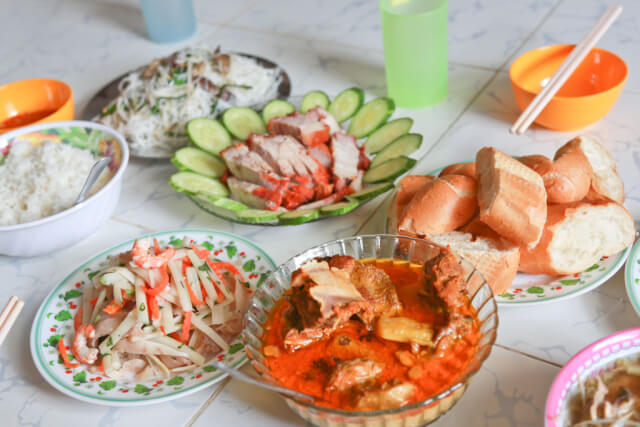 Vietnamese Food at a friend home in Ho Chi Minh City