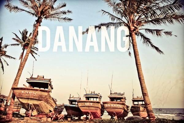 Boats on Danang beach