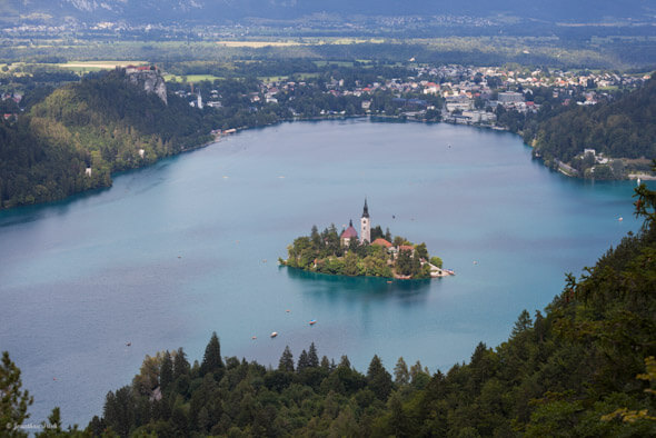 Church of the Assumption in Bled in Slovenia