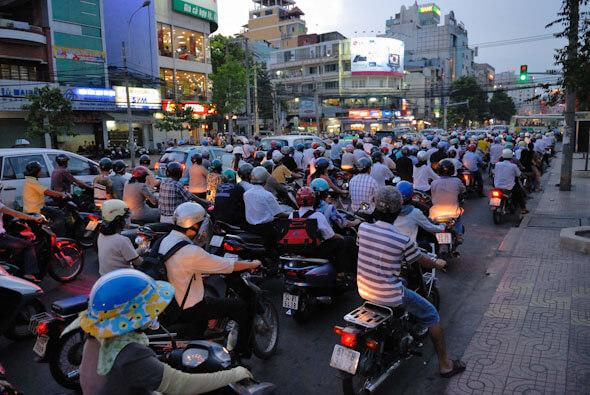 Motorbikes in Saigon