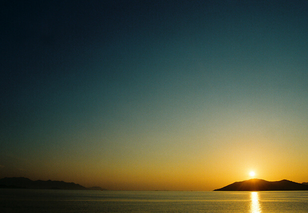Sun rise at Nha Trang Beach