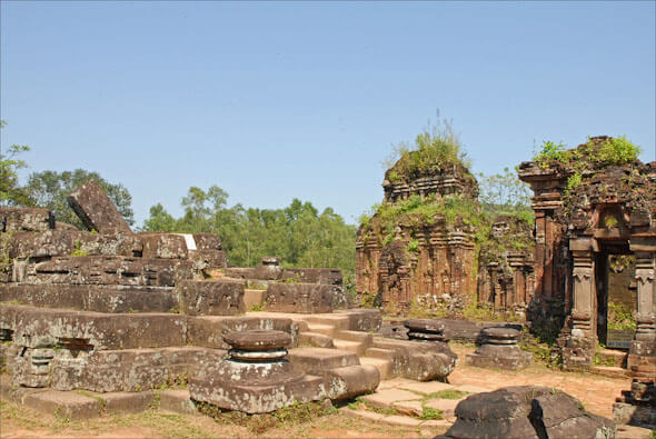 Ruined Cham temples in My Son