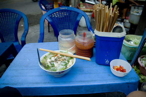 Street stall with toy sized table and stools