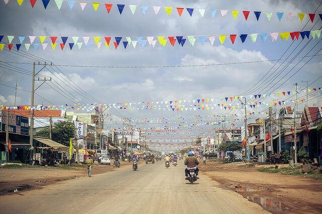Roads decorated during Tet