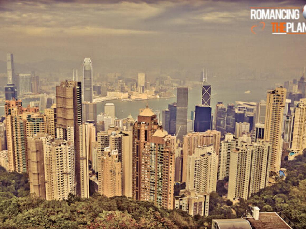 Hong Kong's skyline viewed from Victoria  Peak