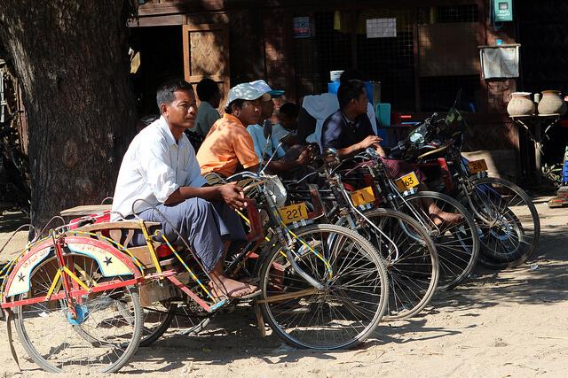 Myanmar has it's own version of richshaw