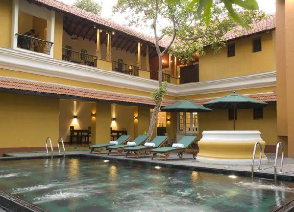 Take a dip in the pool after a hot day in Kochi