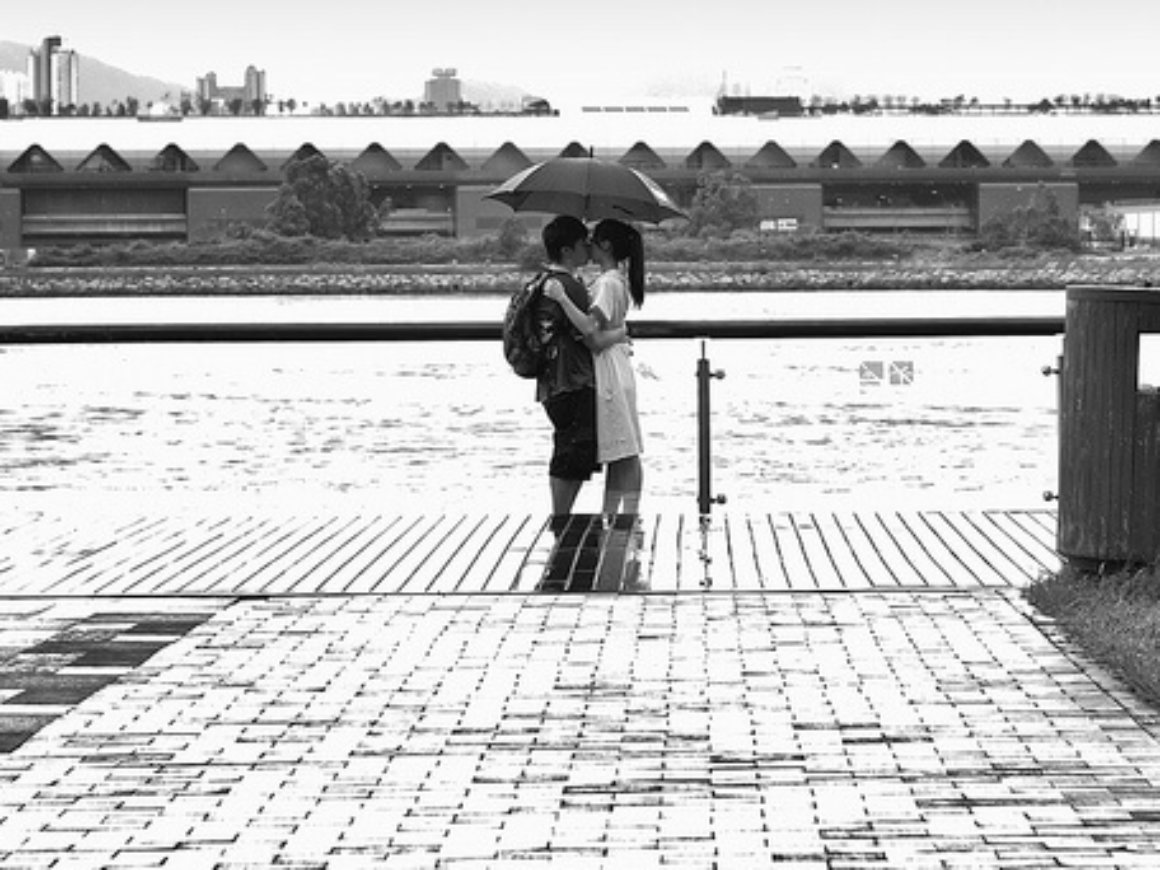 A couple in Hong Kong