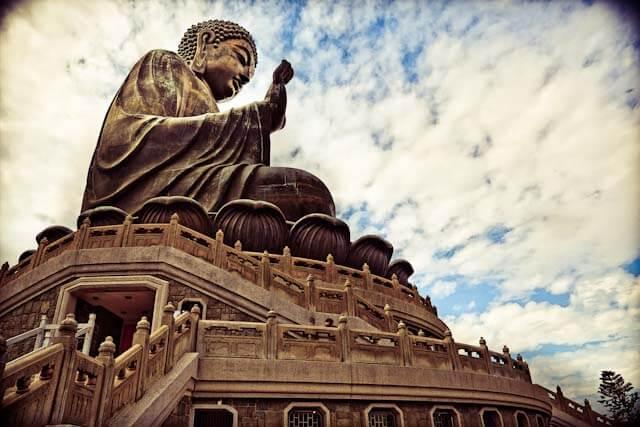 Big Buddha statue on Lantau Island