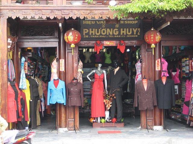 Clothes shop in Hoi An
